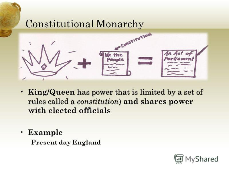 the rules of the absolute monarchy Absolute monarchies due to exploration and trade, european countries became  stronger, and the monarchs centralized their power they claimed to rule by.