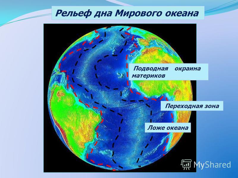 Рельеф дна Мирового океана Подводная окраина материков Ложе океана Переходная зона