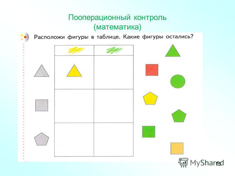 Пооперационный контроль (математика) 75