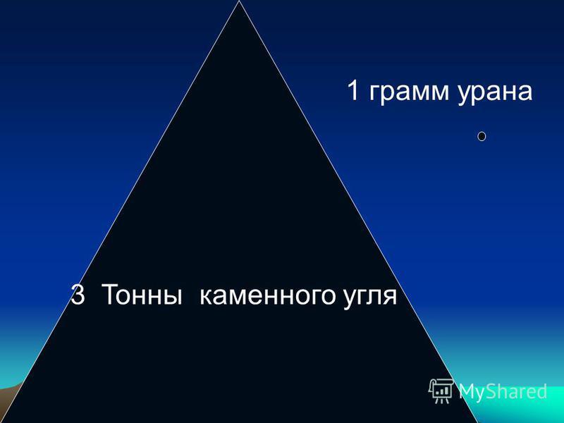 3 Тонны каменного угля 1 грамм урана