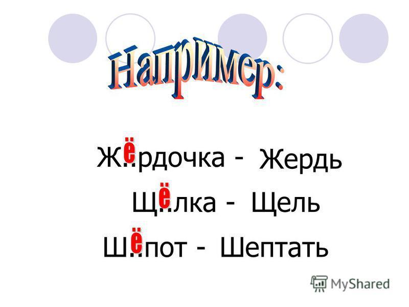 Ж, Ч, Ш, Щ + к слову подбираем однокоренное слово или форму слова с E