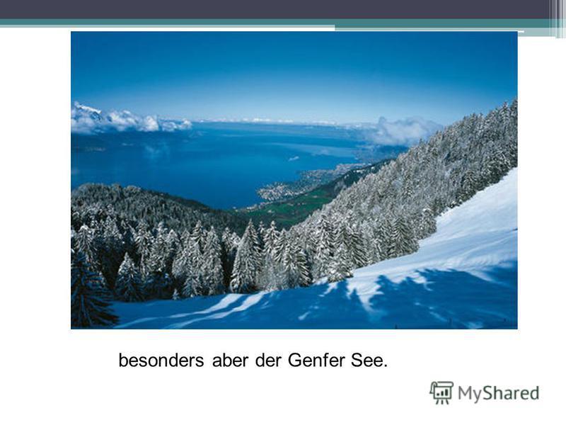 besonders aber der Genfer See.