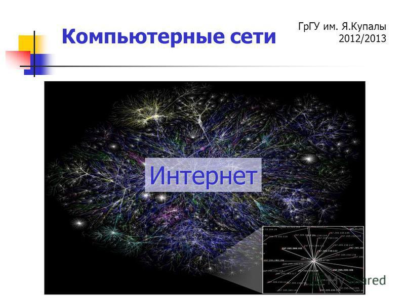 ГрГУ им. Я.Купалы 2012/2013 Компьютерные сети Интернет