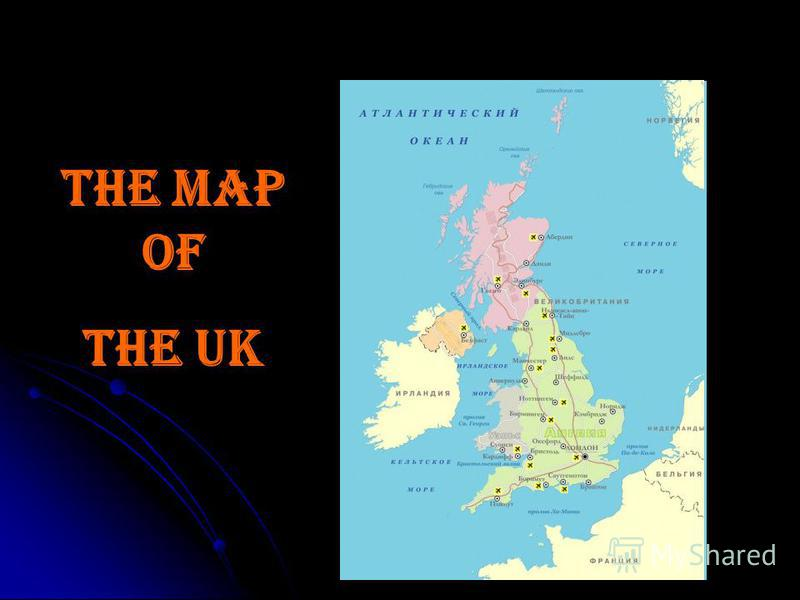 The map of the UK