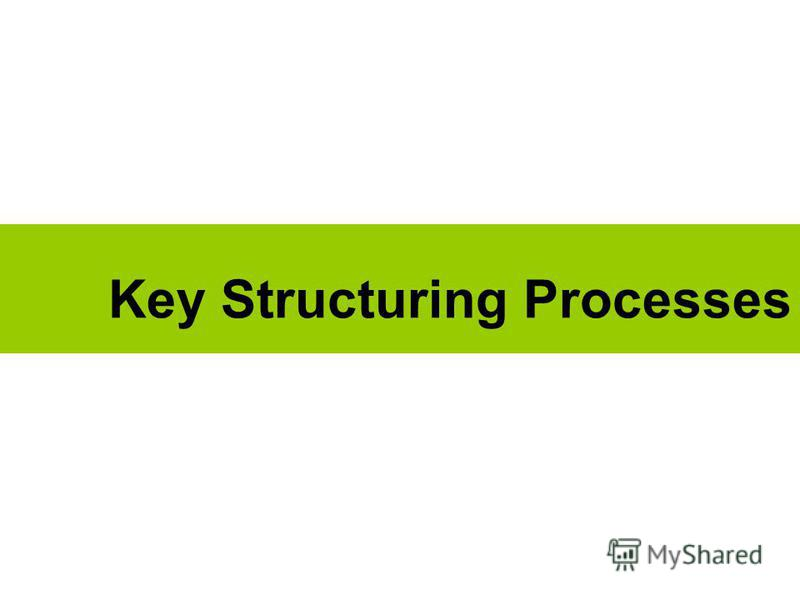 Key Structuring Processes