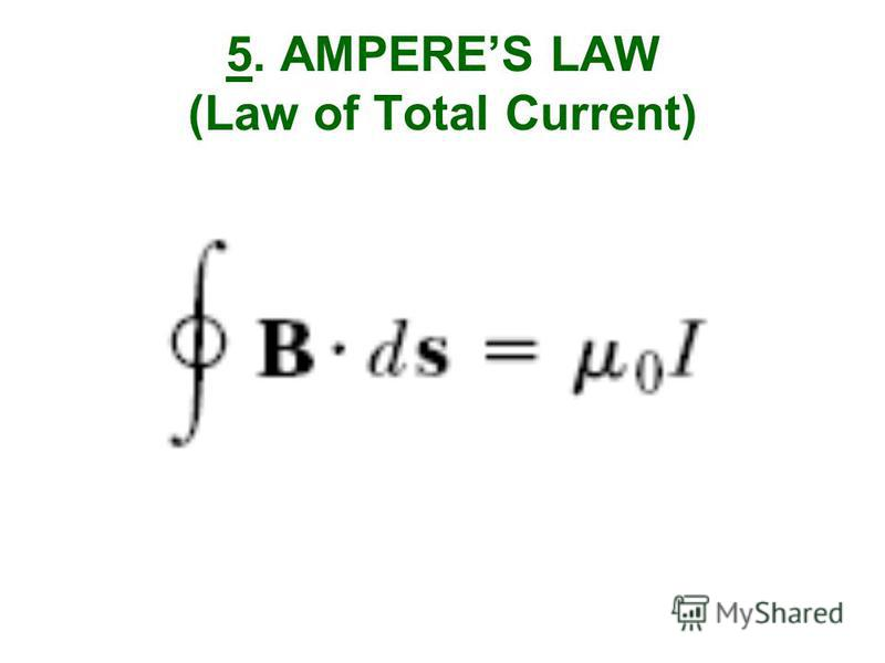 5. AMPERES LAW (Law of Total Current)