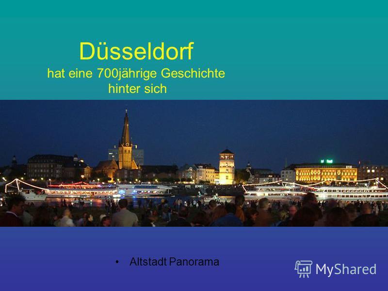 Düsseldorf hat eine 700jährige Geschichte hinter sich Altstadt Panorama