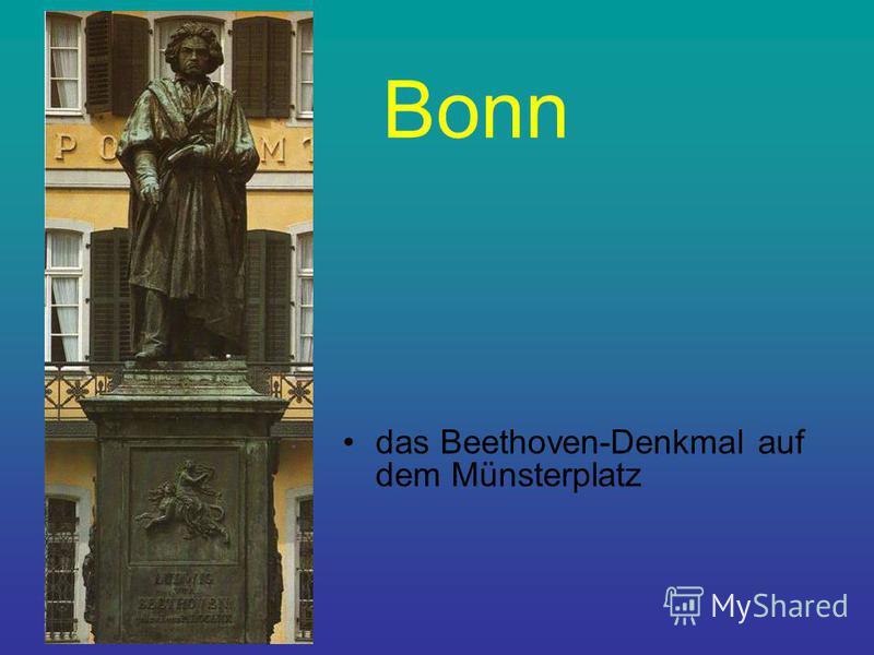 Bonn das Beethoven-Denkmal auf dem Münsterplatz