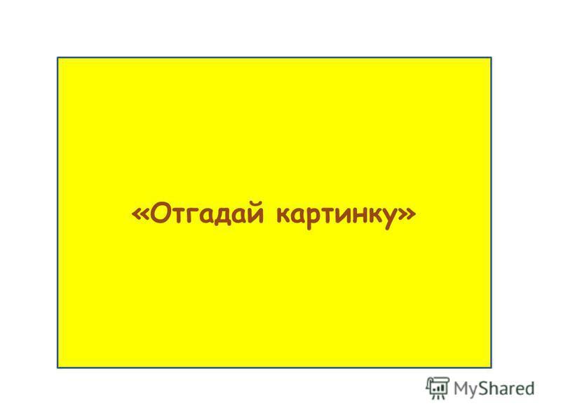 «Отгадай картинку»