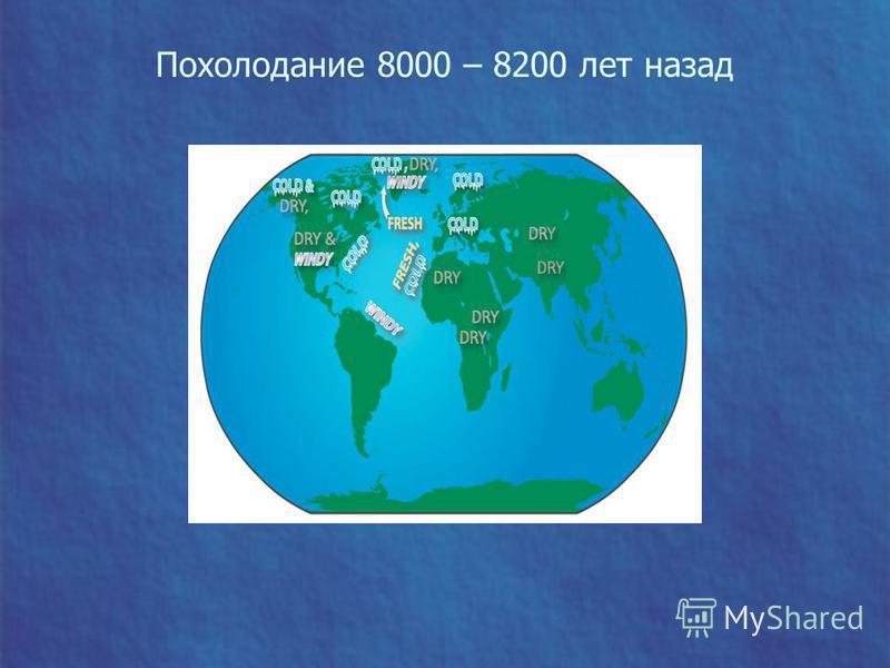 Похолодание 8000 – 8200 лет назад
