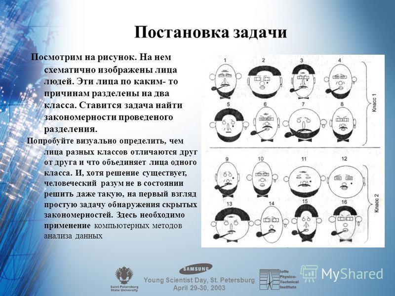 1 Обнаружение логических закономерностей в данных Saint Petersburg State University of Aerospace Instrumentation Logo/Photo of your research organization Key words: System analyse Vladimir Perliouk,