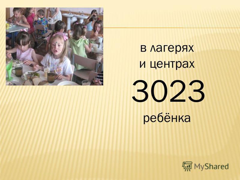 в лагерях и центрах 3023 ребёнка