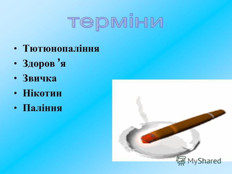 Тютюнопаління Здоров я Звичка Нікотин Паління