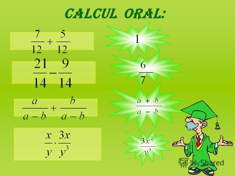Calcul oral: 1
