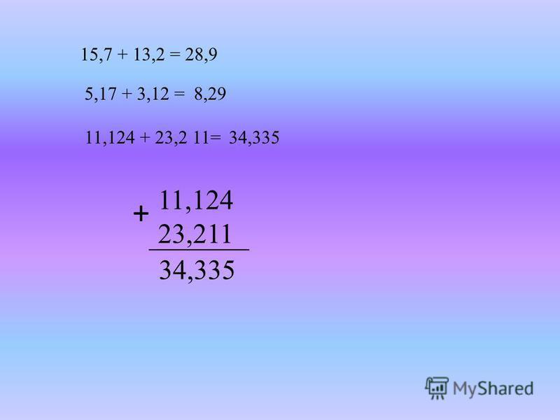 5,17 + 3,12 = 11,124 + 23,2 11= 8,29 34,335 11,124 23,211 + 34,335