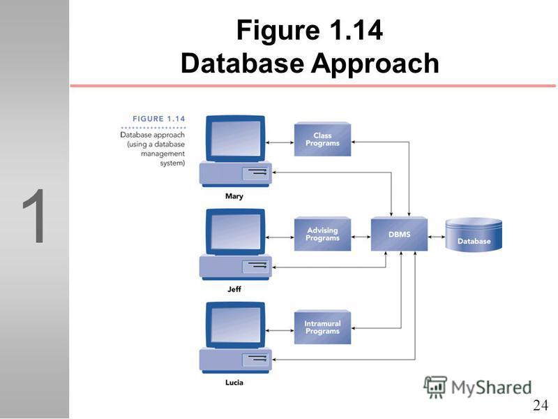 24 1 Figure 1.14 Database Approach
