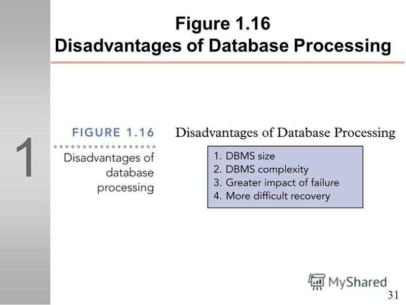 31 1 Figure 1.16 Disadvantages of Database Processing