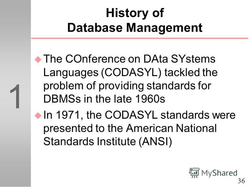 the history of object oriented database management system Object oriented database model in database management system in hindi : an object database is a database management system in which information is represented in the form of objects as used in object-oriented programming.