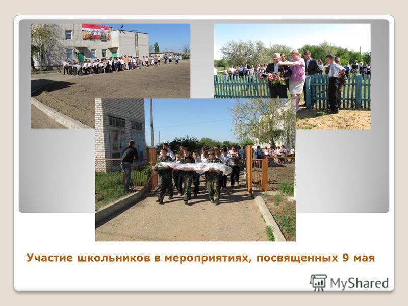 Участие школьников в мероприятиях, посвященных 9 мая