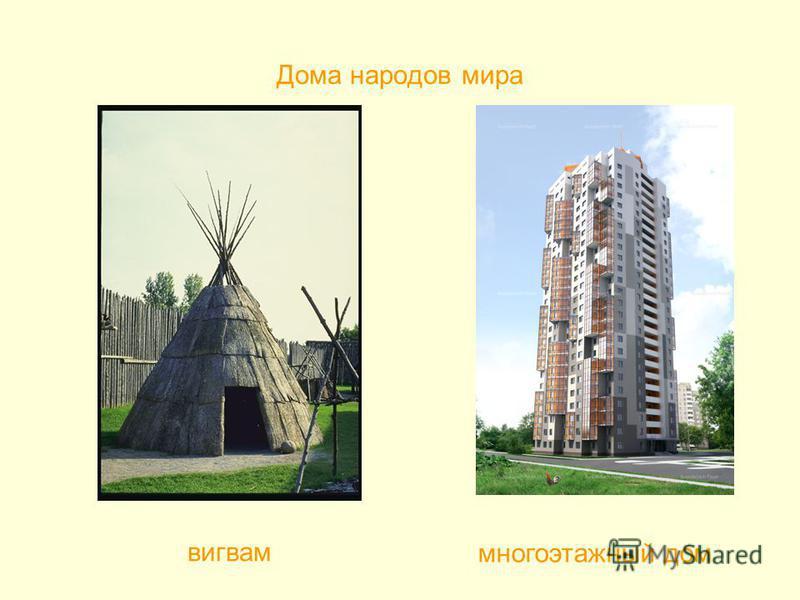 Дома народов мира вигвам многоэтажный дом