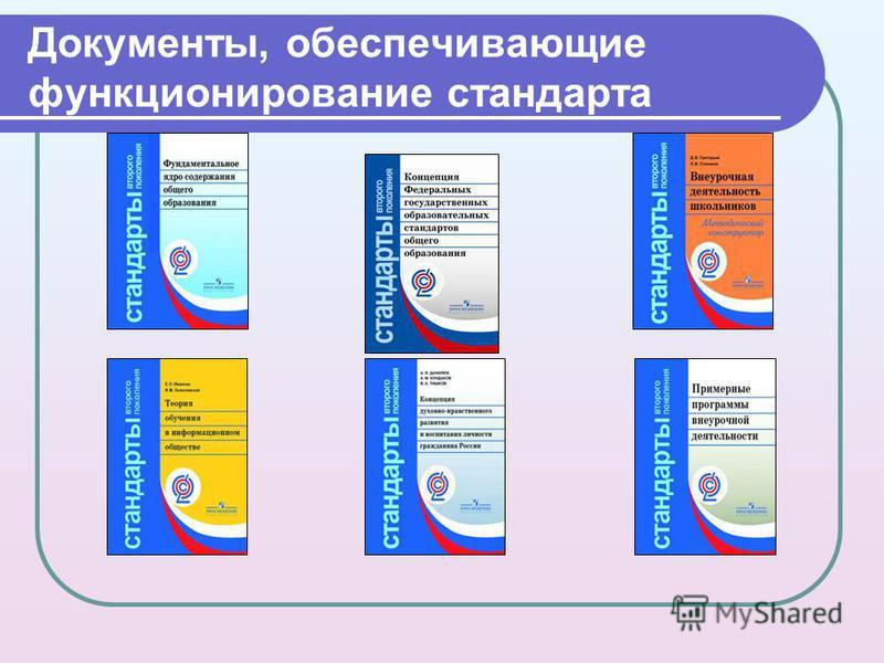 Документы, обеспечивающие функционирование стандарта