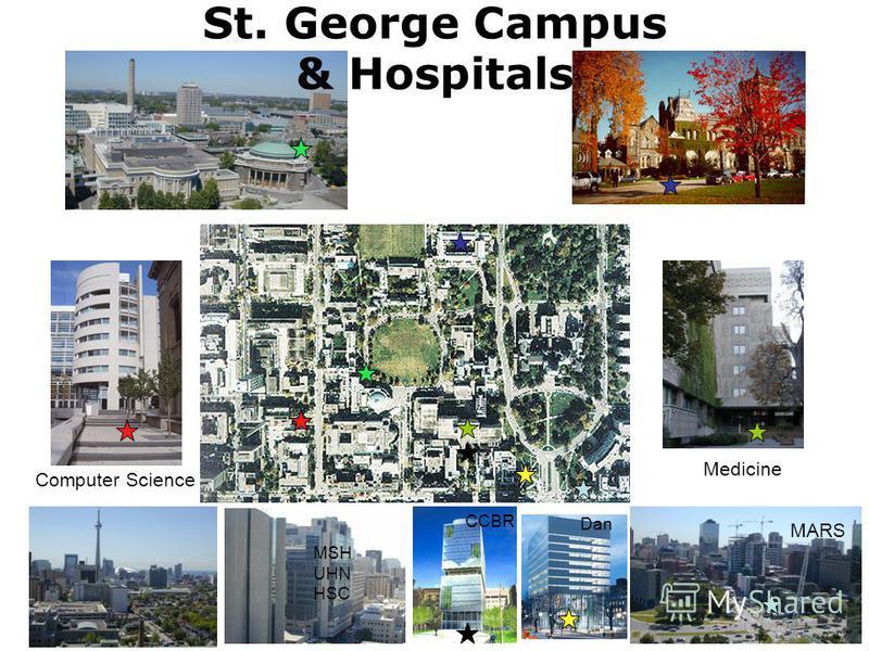 Computer Science Medicine MARS CCBR Dan MSH UHN HSC St. George Campus & Hospitals