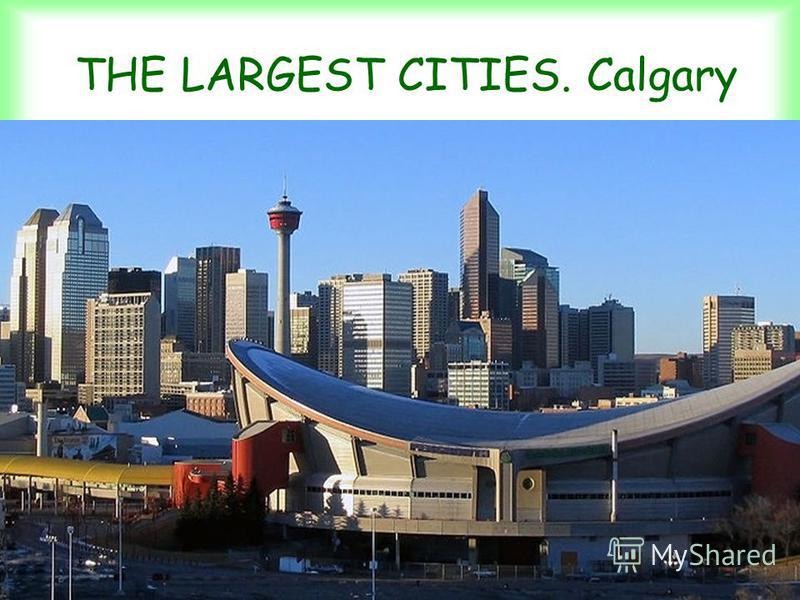 THE LARGEST CITIES. Calgary