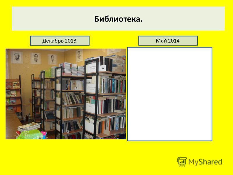 Библиотека. Декабрь 2013Май 2014
