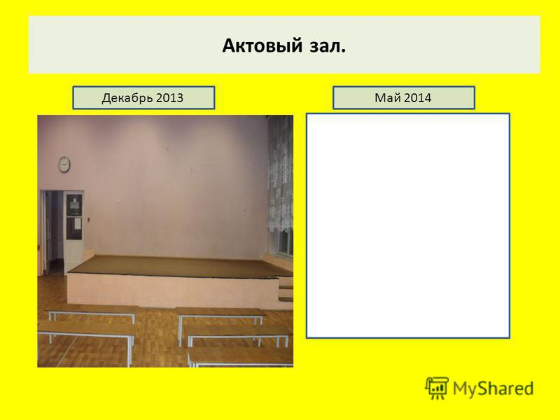 Актовый зал. Декабрь 2013Май 2014