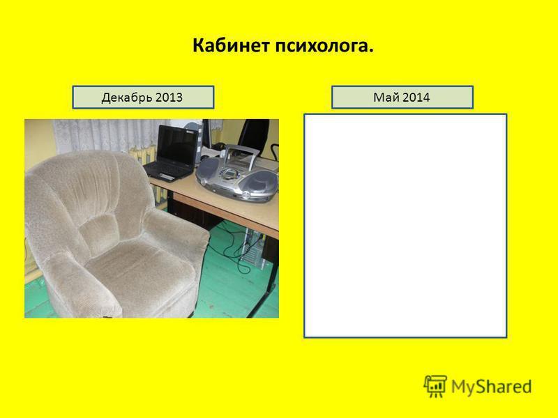 Кабинет психолога. Декабрь 2013Май 2014