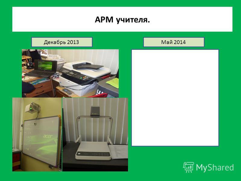 АРМ учителя. Декабрь 2013Май 2014