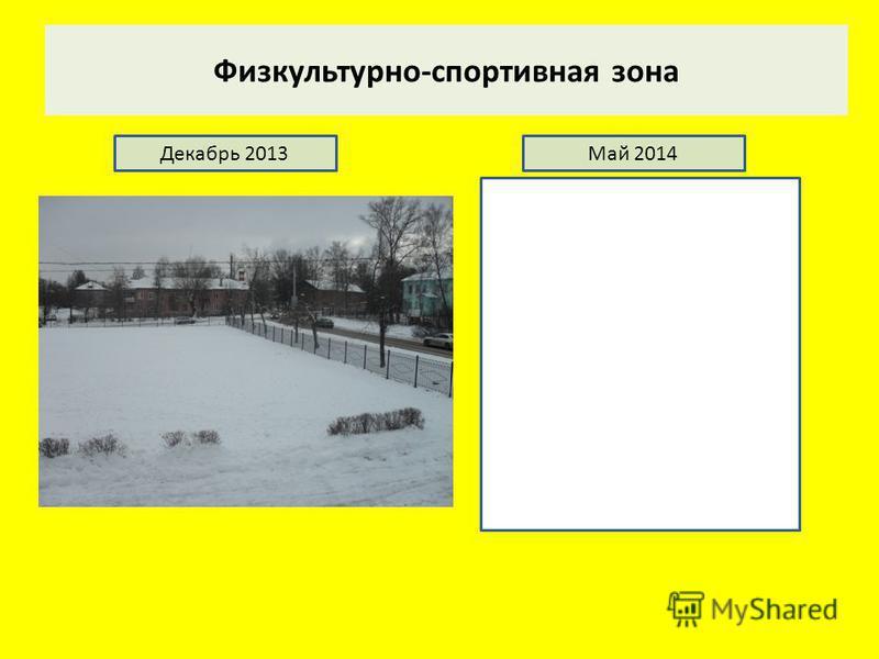Физкультурно-спортивная зона Декабрь 2013Май 2014