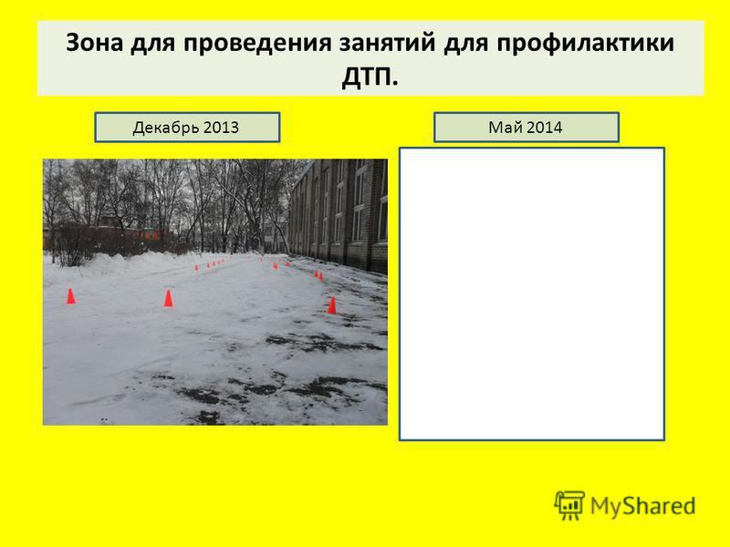 Зона для проведения занятий для профилактики ДТП. Декабрь 2013Май 2014
