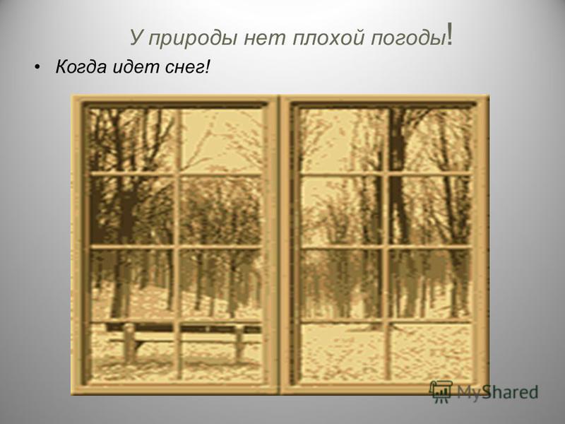 У природы нет плохой погоды ! Когда идет снег!