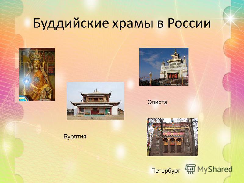 Буддийские храмы в России Элиста Петербург Бурятия