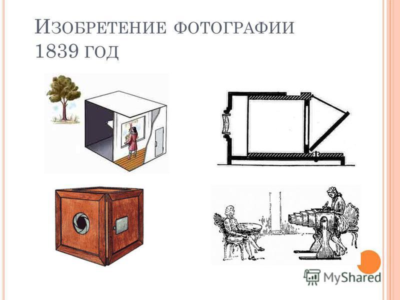 И ЗОБРЕТЕНИЕ ФОТОГРАФИИ 1839 ГОД