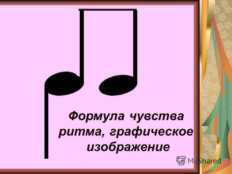 Формула чувства ритма, графическое изображение