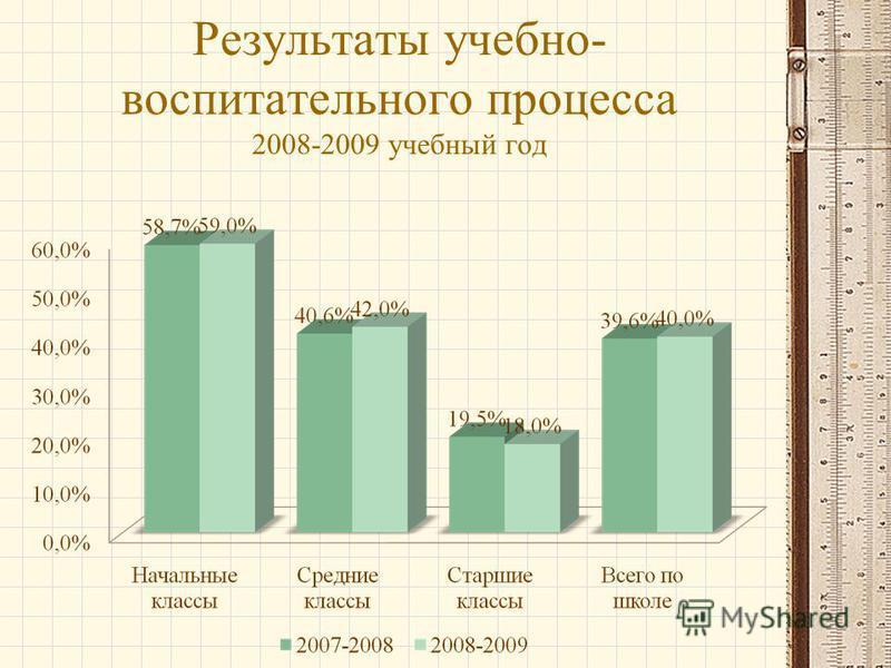 Результаты учебно- воспитательного процесса 2008-2009 учебнай год