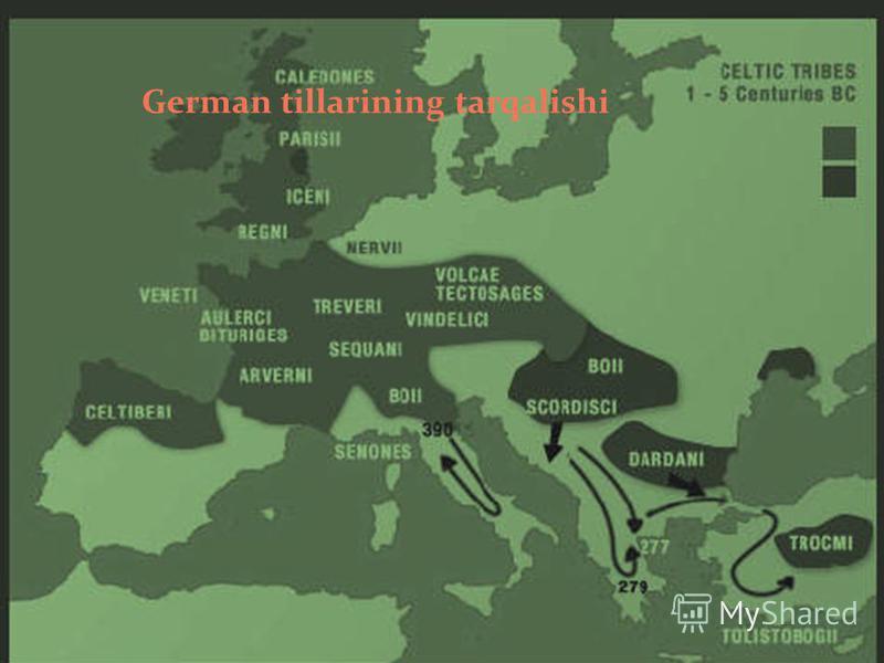 German tillarining tarqalishi