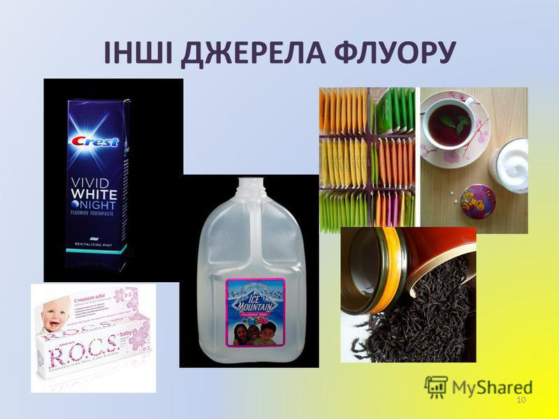 ІНШІ ДЖЕРЕЛА ФЛУОРУ 10