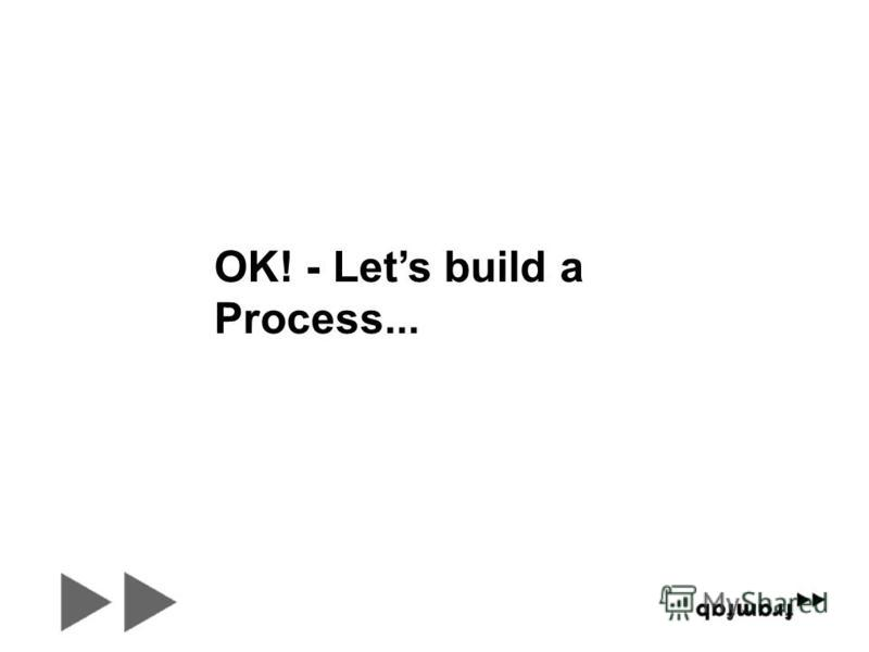OK! - Lets build a Process...
