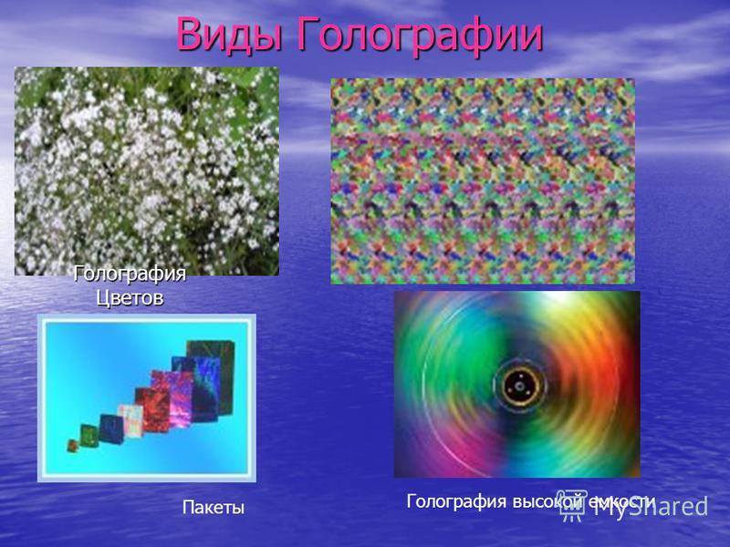 Виды Голографии Голография Цветов Голография высокой емкости Пакеты