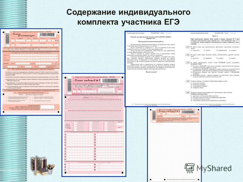 Особенности ЕГЭ: единые правила проведения единое расписание использование заданий стандартизированной формы (КИМ) КИМ использование специальных бланков для оформления ответов на задания бланков проведение письменно на русском языке (за исключением Е