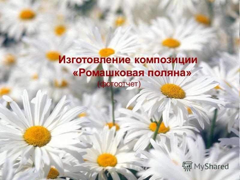 Изготовление композиции «Ромашковая поляна» (фотоотчет)