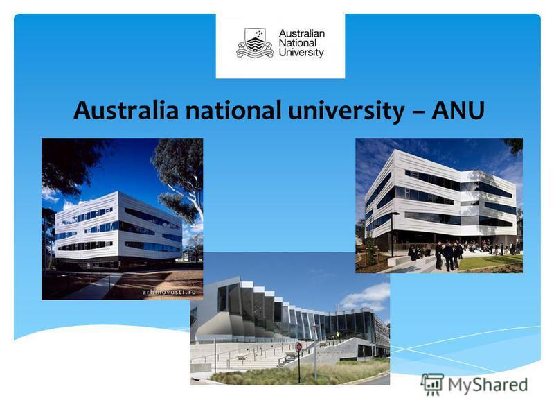 Australia national university – ANU