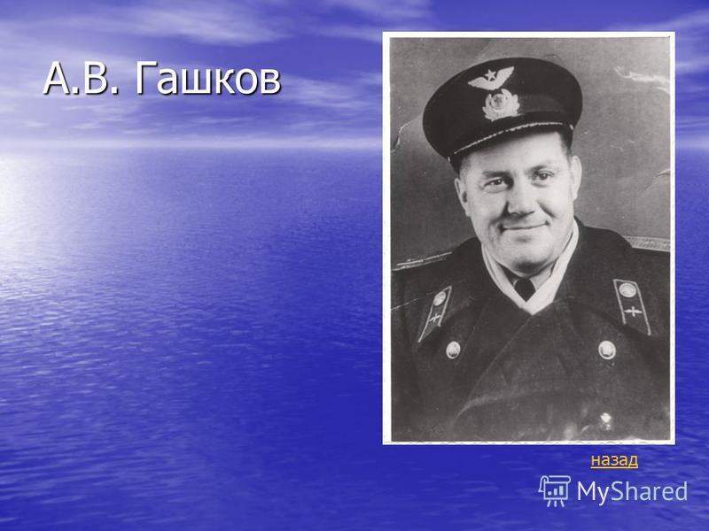 А.В. Гашков назад