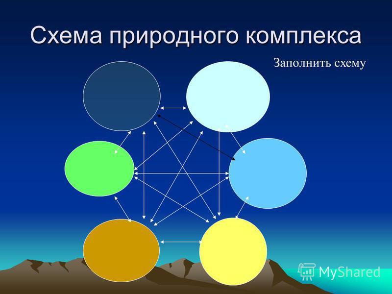 Схема природного комплекса Заполнить схему