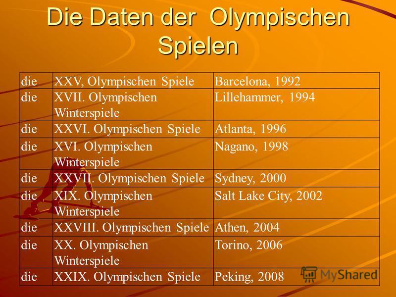 Olympische Spiele Wann