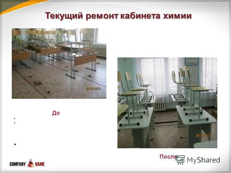 Текущий ремонт кабинета химии До После