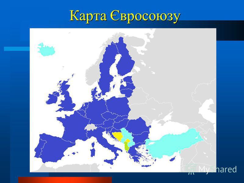 Карта Євросоюзу Карта Євросоюзу